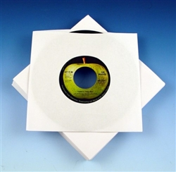 7 Inch White Paper 45 Record Sleeve
